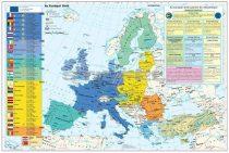 Az Európai Unió (a tagok és tagjelöltek zászlóival) + gazdasági térképek DUO