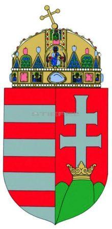 A Magyar Köztársaság címere fémléccel