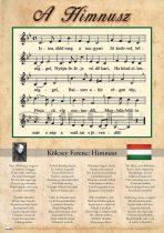 Himnusz tabló faléccel - A3