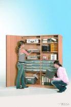 """InBox tárolószekrény, 16 db ,,M"""" tipusú átlátszó fiókkal"""