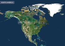 Észak-Amerika a világűrből
