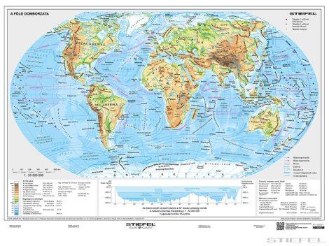 A Föld domborzati és politikai térképe DUO + 10 db ajándék tanulói munkalap