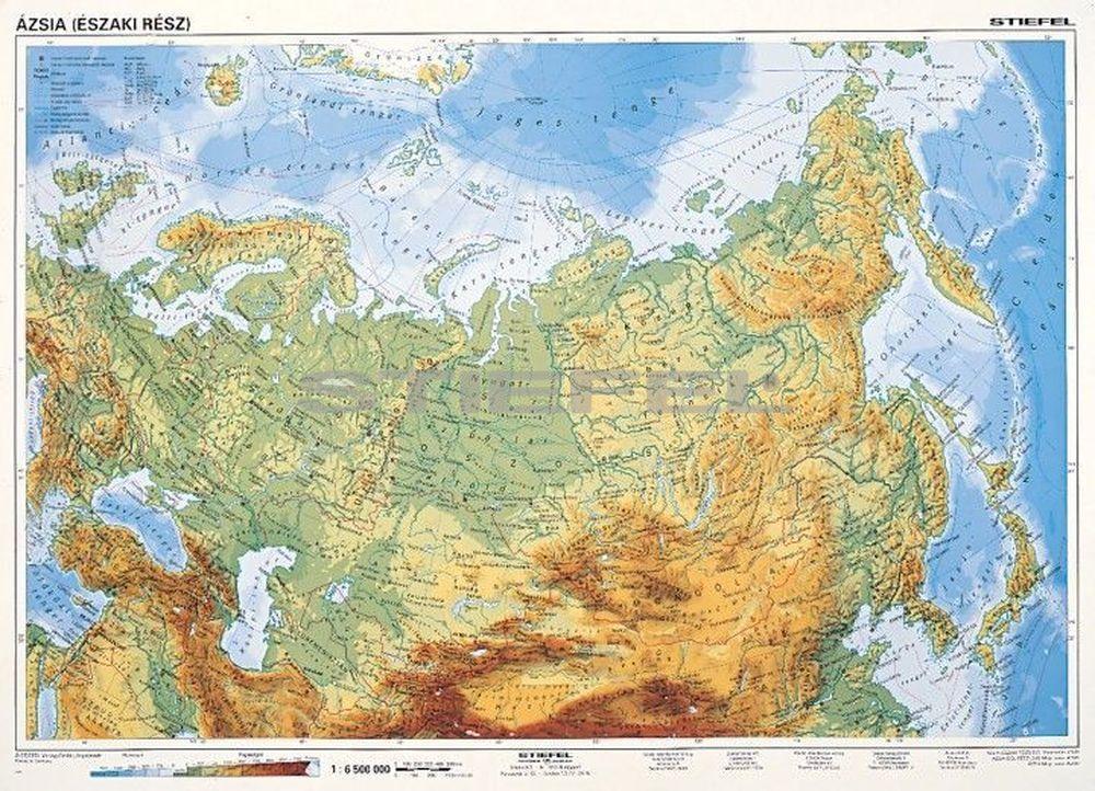 ázsia térkép domborzati Észak Ázsia, domborzati + politikai (F.Á.K. ) DUO ázsia térkép domborzati