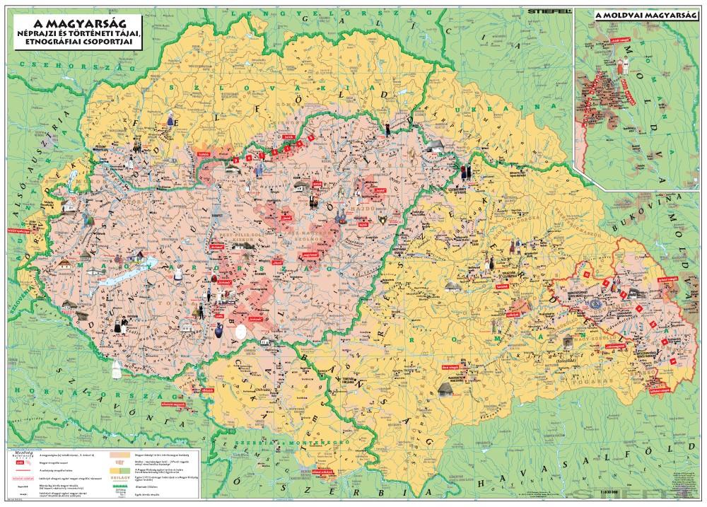 magyar térkép Magyar néprajzi térkép DUO