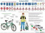 Kerékpáros KRESZ faléces tabló