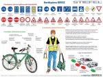 Kerékpáros tízparancsolat / Kerékpáros KRESZ fémléces tabló
