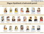 Magyar fejedelmek és hadvezérek portréi (egyszerű időszalaggal)
