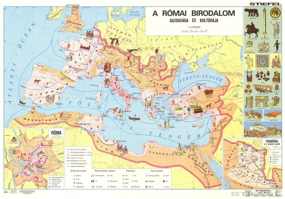 római birodalom térkép A Római Birodalom gazdasága és kultúrája római birodalom térkép