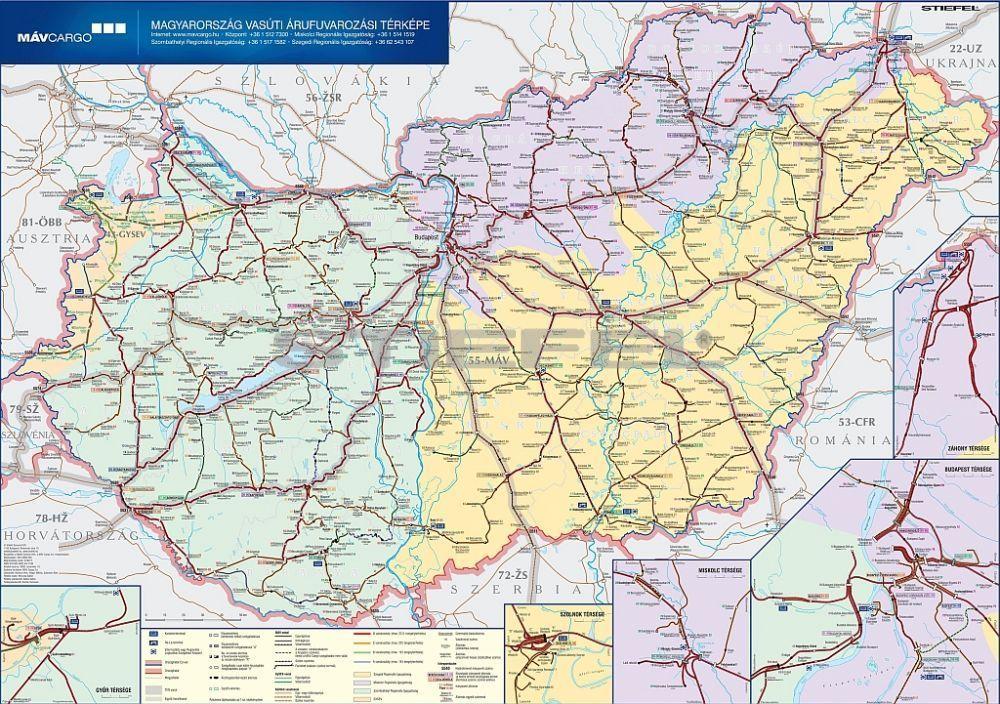 vonat térkép magyarország Magyarország vasúti árufuvarozási térképe   Iskolaellátó.hu vonat térkép magyarország