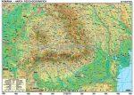 Románia domborzati térképe + vaktérkép DUO (román nyelvű)