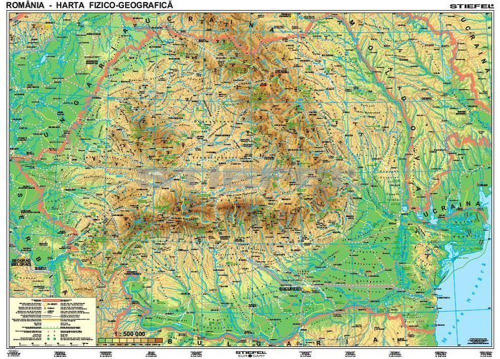 románia térkép Románia domborzati + vaktérkép DUO (román nyelvû)