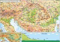 A Duna - menti országok ( domborzati térkép)