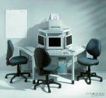 Munkaállomás (3 munkahellyel) 200 x 100 cm-es asztallappal