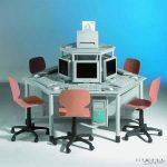 Komplett munkaállomás (6 munkahellyel) 240 x 120 cm-es asztallappal