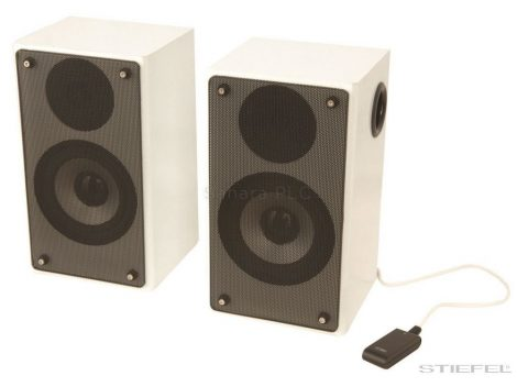 Aktív hangfal készlet interaktív táblához (32W, 100Hz - 15KHz); 3 db USB bemenet, MP3 lejátszó csatlakoztatható (2 db)