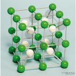 Cézium-klorid molekula modell