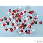 Kalcit kristályrács modellje