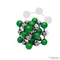 Nátrium-klorid kristályrács modellje I.
