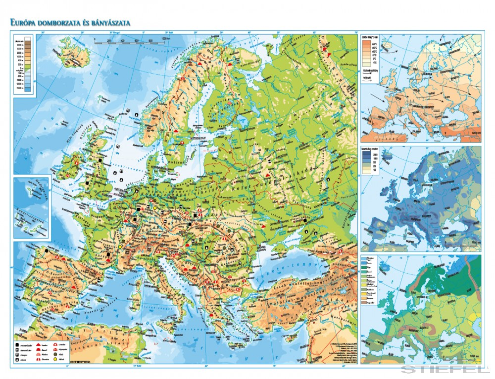 domborzati térkép európa Európa domborzata és bányászata   Iskolaellátó.hu domborzati térkép európa