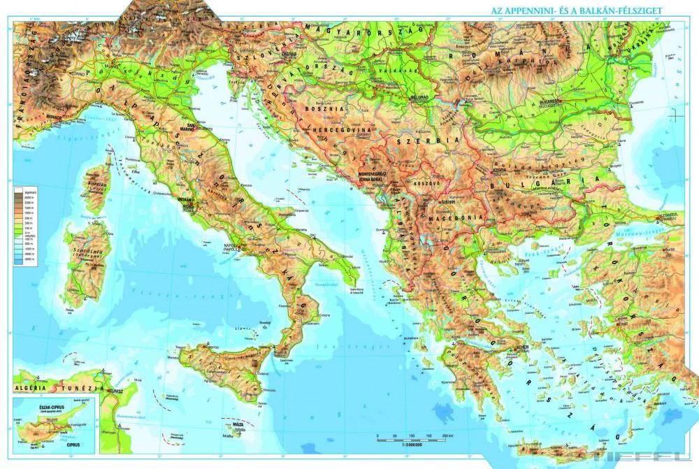 balkán térkép Az Appennini  és a Balkán félsziget + vaktérkép DUO   Iskolaellátó.hu balkán térkép