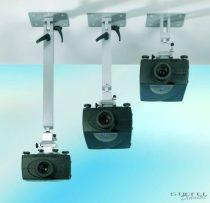 Multifunkcionális mennyezeti projektortartók - 40-70 cm-es hossz, szín: ezüst