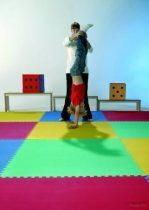 Közepes játszó- és tornaszőnyeg szett (100x100 cm) - választható színben