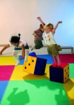 Nagy játszó- és tornaszőnyeg szett (120x120 cm) - választható színben