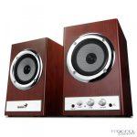GENIUS_SP_HF800X hangfal (2 db hangszóró, teljesítmény: 28 W , fa borítás, hangerőszabályzó, magas- és mélyhangszabályzó)