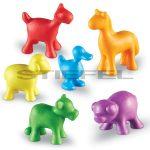 Figuratív számláló készlet-farm állatai, 72 darabos