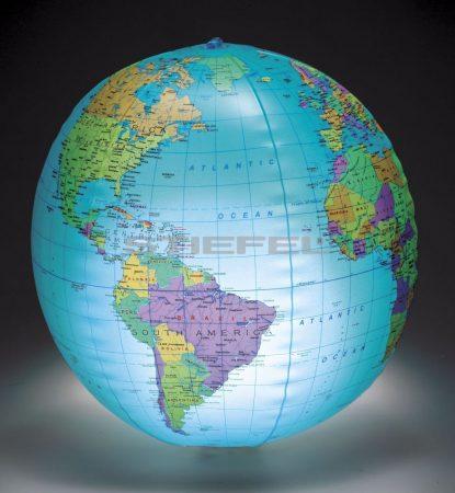Felfújható világítós politikai földgömb (30,5 cm)