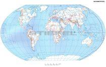 A Föld + Európa körvonalas munkatérképe DUO