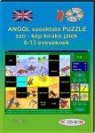 Angol szóoktató puzzle, szó - kép kirakó CD-ROM