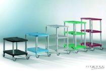Clever-Cart gurulós állvány - Teljes magasság: 610 mm Polcmagasság: 390 mm