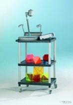 Clever-Cart gurulós állvány - Teljes magasság: 840 mm Polcmagasság: 390 és 190 mm