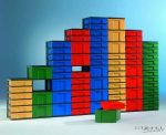 InBox tárolóelem, 83 cm magas, 4 db magas fiókkal