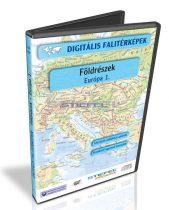 Digitális Térkép - Földrészek - Európa 1. (7 térkép)