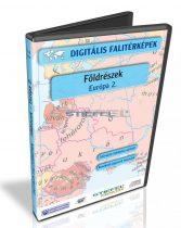 Digitális Térkép - Földrészek - Európa 2. (11 térkép)