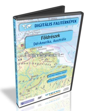 Digitális Térkép - Földrészek - Dél-Amerika, Ausztrália (13 térkép)