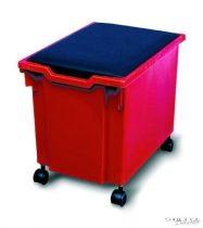 Görgős óriás dobozok, tető nélkül (piros)