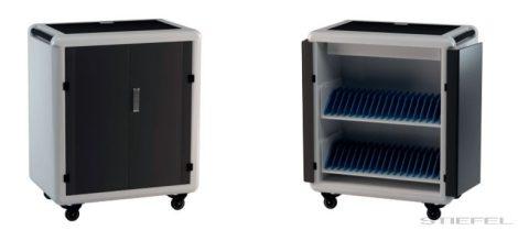 TeachBusOne Plus 36 db Tablet/notebook/laptop tároló, guruló szekrény + Power Management System