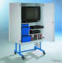 TV 20 modell, 2 db polccal, kék fiókos elemmel