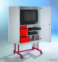 TV 20 modell, 2 db videópolccal, piros fiókos elemmel