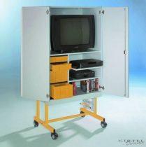 TV 20 modell, 1 db kihúzható videó- és 1 db rögzített polccal, sárga fiókos elem