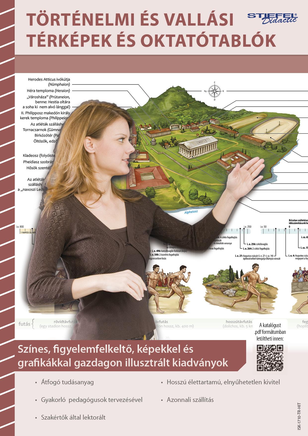 Történelmi és vallási térképek és oktatótablók