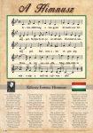 Himnusz tabló fakerettel