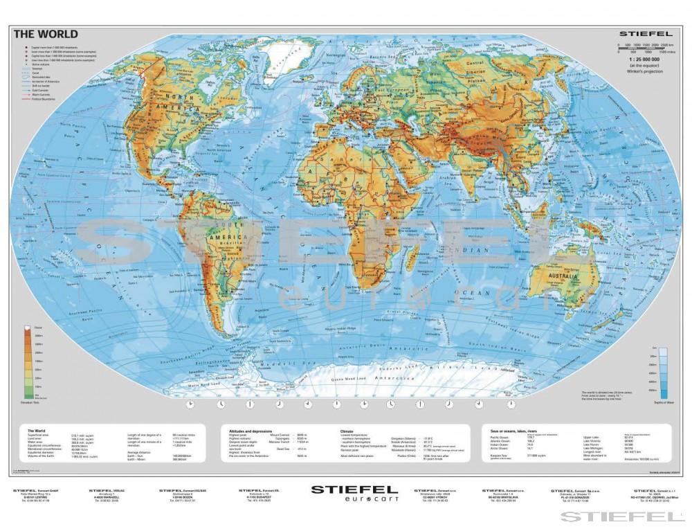The World Physical Angol Domborzati Vilagterkep Iskolaellato Hu