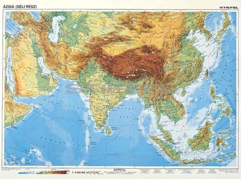 Dél-Ázsia domborzata + politikai térképe DUO