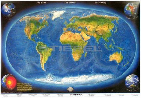 A Föld morfológiai térképe a tengerfenék domborzatával