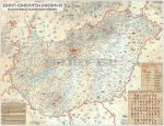 Magyarország rovásírás térképe (Rovásírás ABC-vel)