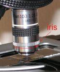 BTC 100x planobjektív íriszblendével, 160 mm